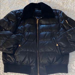 Men's Burberry Leather Coat